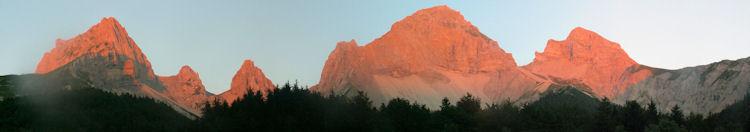 La Jarjatte, coucher de soleil