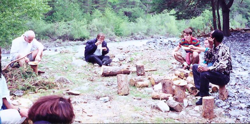 Arnaud, 1992, Barcelonnette, raft avec RK Genève et Milan